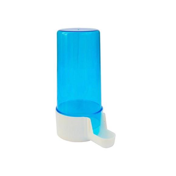 Bebedouro Italiano Para Pássaros M Malha Fina Azul Jel Plast