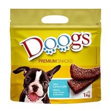 Bifinho Cães Doogs Carne e Leite - 1kg