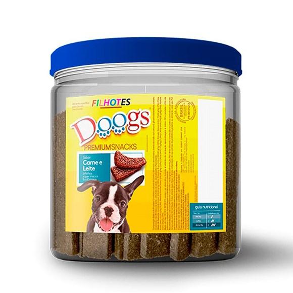 Bifinho Cães Doogs Carne e Leite Pote - 1kg