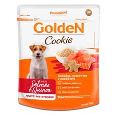 Biscoito Golden Cookies Cães Adultos Pequeno Porte Salmão e Quinoa - 350g