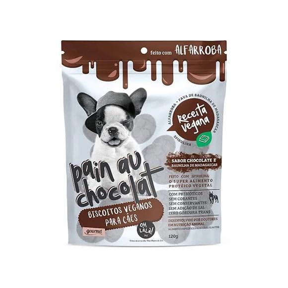 Biscoito Oh LáLá Cães Filhotes Veganos Pain Au Chocolat – 120g