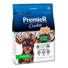 Biscoito Premier Cookies Cães Filhotes Coco e Aveia - 250g