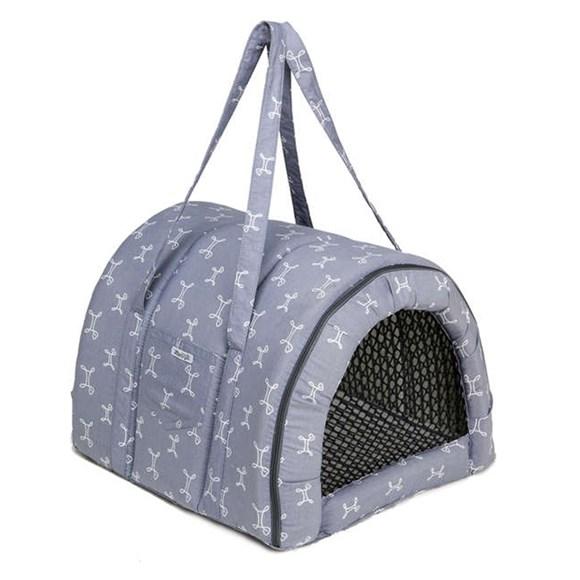 Bolsa De Transporte Fechado Cães e Gatos Fabrica Pet Munique Cinza – N°1