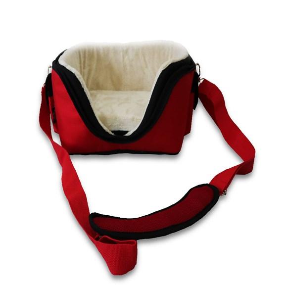 Bolsa de Transporte Sak's Cães e Gatos 6 em 1 Vermelho Pet-0062