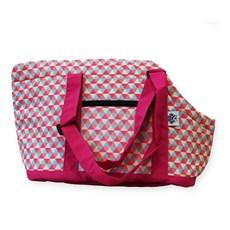 Bolsa de Transporte Sak's Cães e Gatos Lateral Rosa Pet-0037