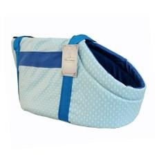 Bolsa Transporte Maxximo Pet Transporte Azul com Bolinhas - Tam:M