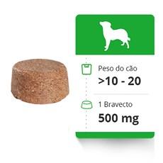 Bravecto Antipulgas e Carrapatos Para Caes 10 a 20kg