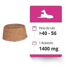 Bravecto Antipulgas e Carrapatos Para Caes 40 a 56kg