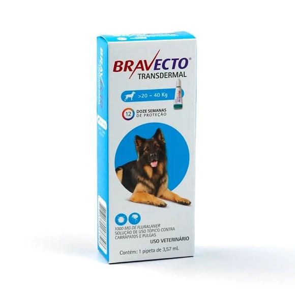 Bravecto Antipulgas e Carrapatos Transdermal Caes 20 A 40Kg