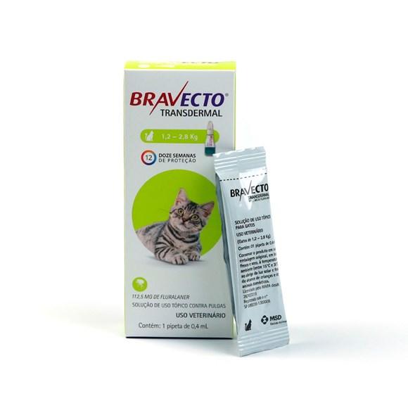 Bravecto Antipulgas Transdermal Para Gatos De 1,2 A 2,8kg