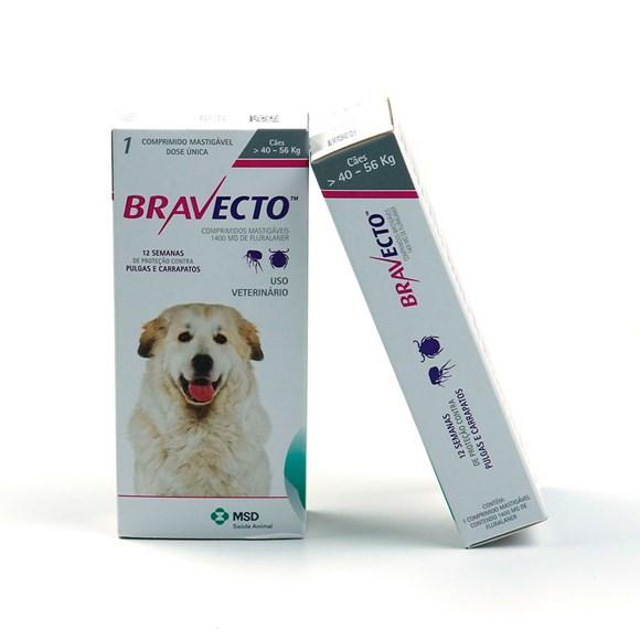 Bravecto Remédio para Carrapato e Pulga em Cachorro 40 a 56kg 1400mg