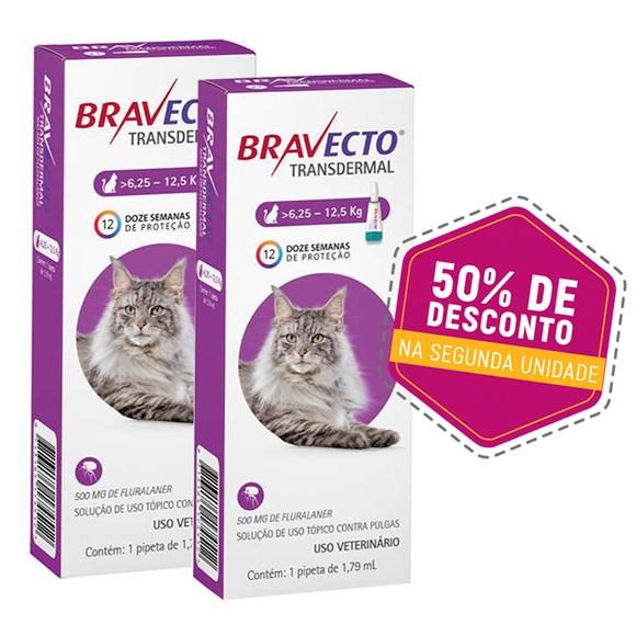 Bravecto Transdermal Gatos 6,25Kg a 12,5Kg – Kit Promocional