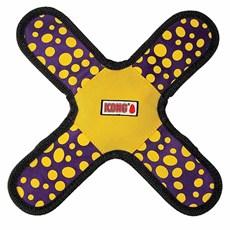 Brinquedo Balístico de Cães Kong Gliderz Assort SMA Amarelo Pequeno