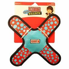 Brinquedo Balístico de Cães Kong Gliderz Assort SMA Azul Pequeno