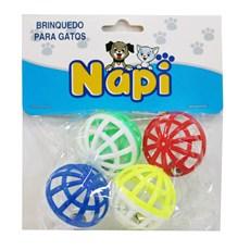 Brinquedo Bola com Guizo Para Gatos Napi