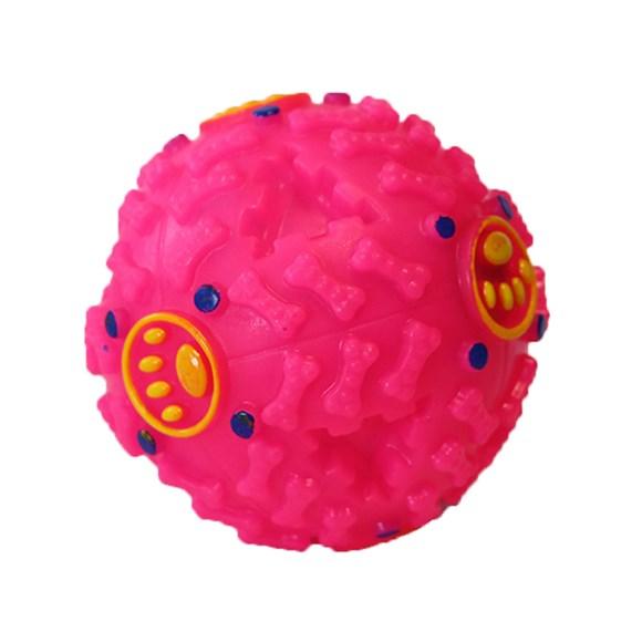 Brinquedo Bola Interativa Para Cães Rosa 10cm - The Pets Brasil