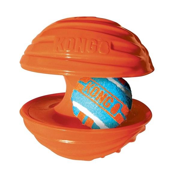 Brinquedo Cães Interativo Kong Rambler Ball Large Laranja