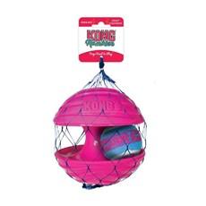 Brinquedo Cães Interativo Kong Rambler Ball Rosa