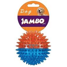 Brinquedo Cães Jambo Bola TPR Média Espinho Dual Azul e Laranja