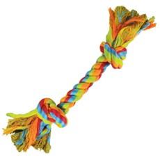 Brinquedo Cães Jambo Mordedor Corda Dental Bone Color - Grande