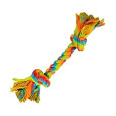 Brinquedo Cães Jambo Mordedor Corda Dental Bone Colorido Pequeno