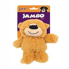Brinquedo Cães Jambo Mordedor Pelúcia Happy Bear Pequeno Bege