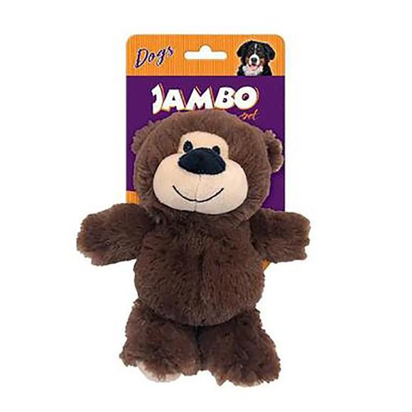 Brinquedo Cães Jambo Mordedor Pelúcia Happy Bear Pequeno Marrom