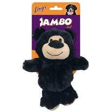 Brinquedo Cães Jambo Mordedor Pelúcia Happy Bear Pequeno Preto