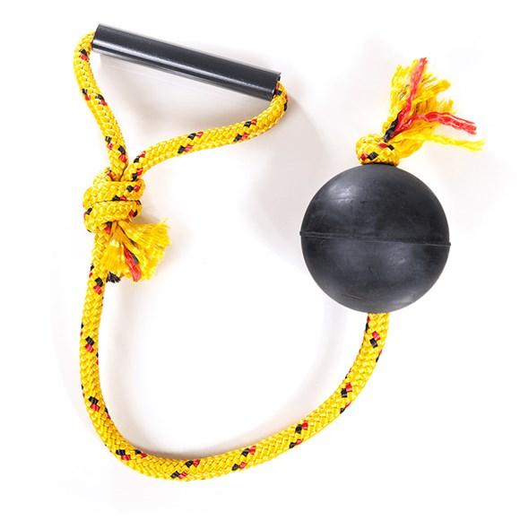 Brinquedo Cães Lcm Borracha Bola Maciça Extraforte Com Corda 80mm