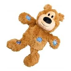 Brinquedo Caes Morder Urso De Pelucia Kong Knots Nkr3 Bege