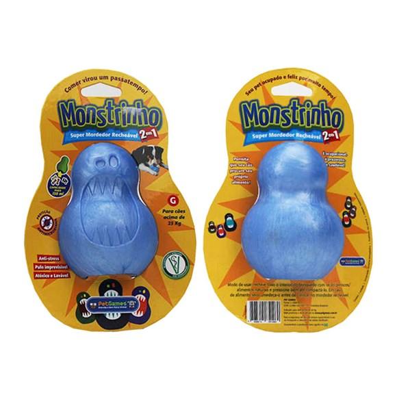 Brinquedo Cães Pet Games Monstrinho Azul Tam. G