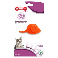 Brinquedo Cat Mouse Odontopet Laranja