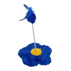 Brinquedo Flor Para Gatos Azul São Pet