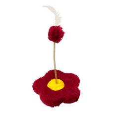 Brinquedo Flor Para Gatos Vermelho São Pet