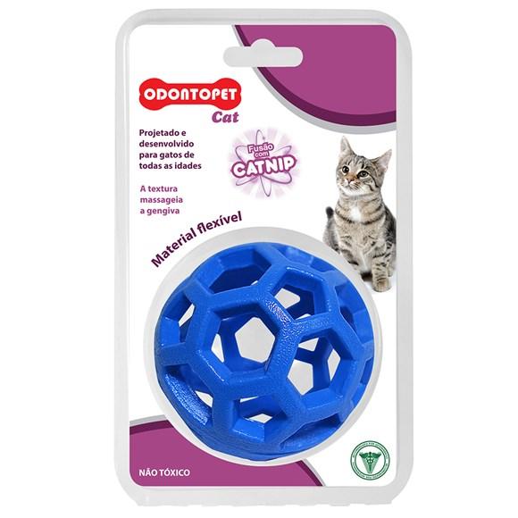 Brinquedo Gatos Bola Azul Odontopet Cat