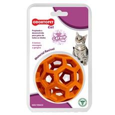 Brinquedo Gatos Bola Laranja Odontopet Cat