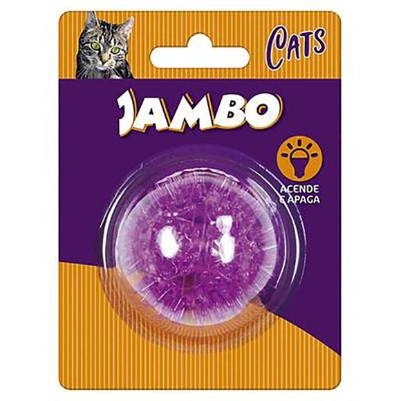 Brinquedo Gatos Jambo Bola Luz Espinho Mini Cat Roxo