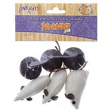 Brinquedo Gatos Jambo Ratinho e Bola Pack Com 6 Unidades
