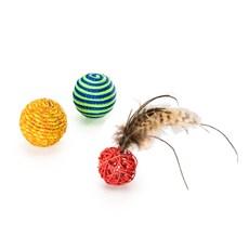 Brinquedo Gatos Mimo Conjunto 3 Bolinhas