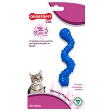 Brinquedo Gatos Minhoca Azul Odontopet Cat