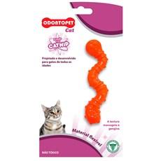 Brinquedo Gatos Minhoca Laranja Odontopet Cat