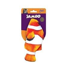 Brinquedo Gatos Real Fish Palhaço Jambo