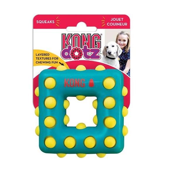 Brinquedo Interativo Cães Kong Dotz Square  Small