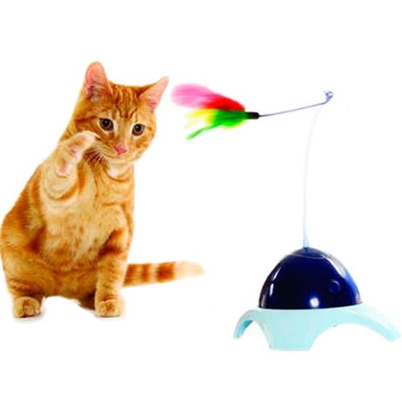 Brinquedo Interativo Gatos Flying Feather Pena Giratoria Pawise