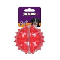 Brinquedo Mordedor Cães Bola Dura Espinho Vermelha Md. Jambo
