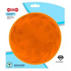 Brinquedo Mordedor Cães Fresbee Moderadas até 15kg Dentalbone Vermelho Carne