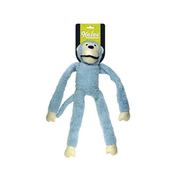 Brinquedo Mordedor Cães Pelúcia Macaco Grande Azul Jambo
