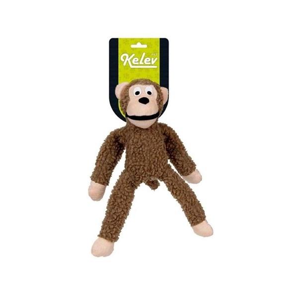 Brinquedo Mordedor Cães Pelúcia Macaco Grande Marrom Jambo