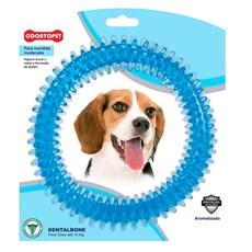 Brinquedo Mordedor Dental Argola Azul Cães Até 15Kg Odontopet