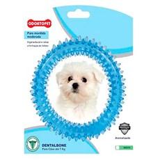 Brinquedo Mordedor Dental Argola Azul Cães Até 7Kg Odontopet